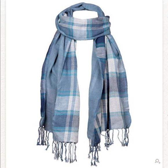 3e489ab97050d Rising Tide Accessories | Eco Double Sided Plaid Scarf In Blue ...